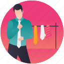 apparel shopping, clothes store, men clothing, shopping, tie shop icon