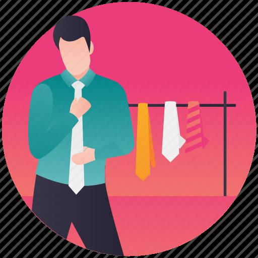 apparel shopping, clothes store, men clothing, shopping, tie shop icon