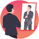buying suit, changing room, dressing room, suit trying, try room icon