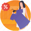 clothing discount, clothing sale, clothing store, grand sale, sale offer icon
