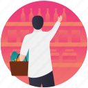 bar, buy wine, liquor store, supermarket, wine shop icon