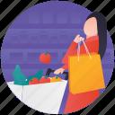 buy, grocery shopping, shopper, shopping cart, shopping trolley icon