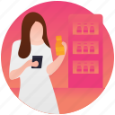 buy food, convenience store, grocery store, shopping, supermarket icon