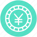 coin, currency, money, payment, shopping, yen icon