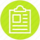 clipboard, list, memo, paper, record, shopping, shopping list icon