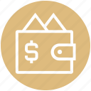 cash, money, payment, purchase, purse, shopping, wallet icon