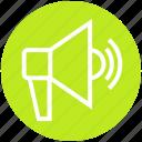advertising, campaign, loudspeaker, marketing, megaphone, shop, shopping