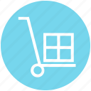 carton, delivery, package, shipping, shopping, trolley icon