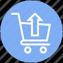 buy, cart, in arrow, product, shopping, shopping cart, trolley