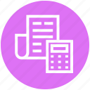 billing, calculator, list, paper, report, shopping, store