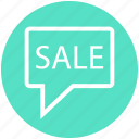 chat, communication, message, notification, publicity, sale, shopping icon