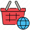 ecommerce, global, shopping, worldwide icon
