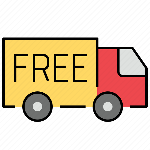 delivery, free, logistics, shipping icon