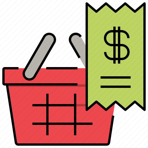 bill, billing, invoice, shopping icon