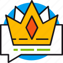 best, chat, crown, offer, premium, shopping, suggestion icon