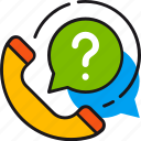 call, customer, help, questions, service, support, telephone icon
