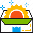 box, delivery, fresh, new, package, product, trends icon