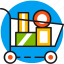 buy, cart, goods, sale, shop, shopping, store icon
