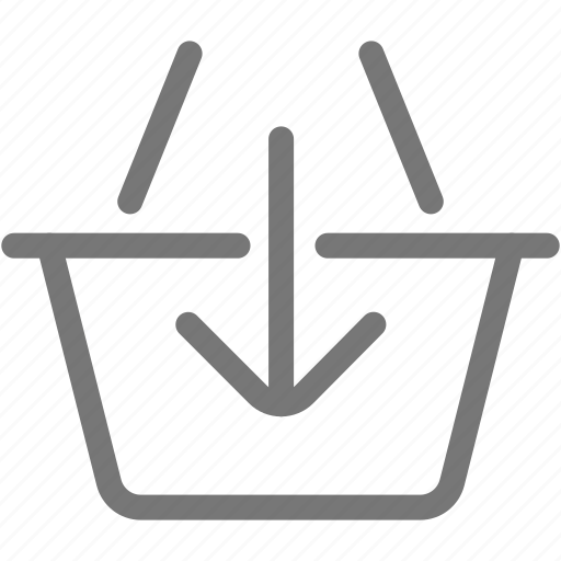 add, arrow, basket, ecommerce, market icon
