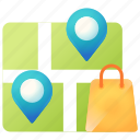 direction, ecommerce, location, map, shopping