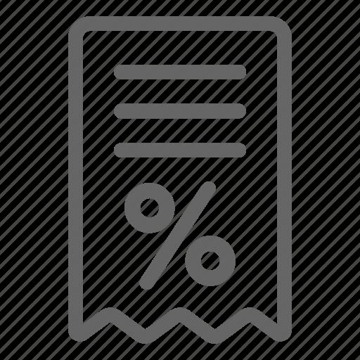 bill, invoice, mall, receipt, shopping icon