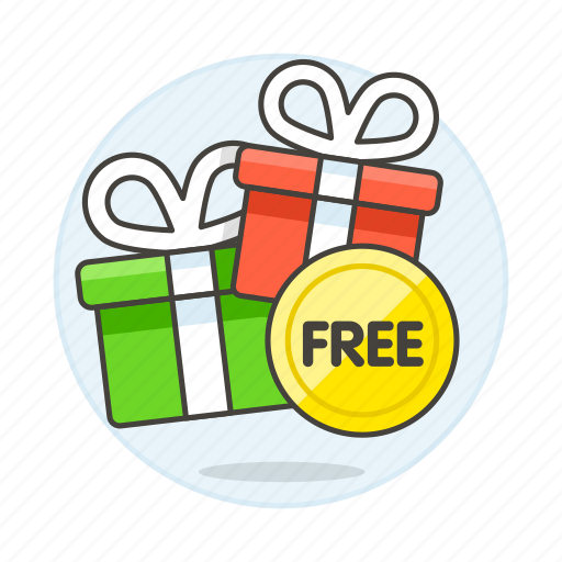 Badge Box Boxes Free Gift Offer Products Shopping Special Icon