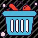 bakset, shop, fruit, shopping icon