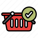 cart, completed, notification, shopping icon