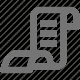 list, receipt icon