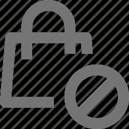 bag, basket, block, buy, ecommerce, shopping, stop, store icon