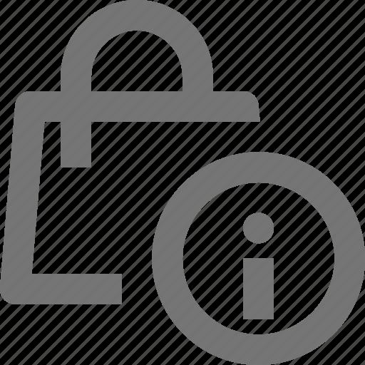 bag, information, shopping icon