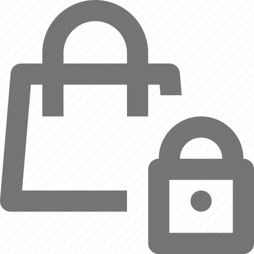 bag, lock, security, shopping icon