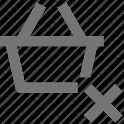 basket, buy, close, delete, ecommerce, shopping, store icon