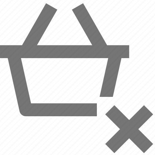 Basket, close, shopping, delete, buy, ecommerce, store icon - Download on Iconfinder