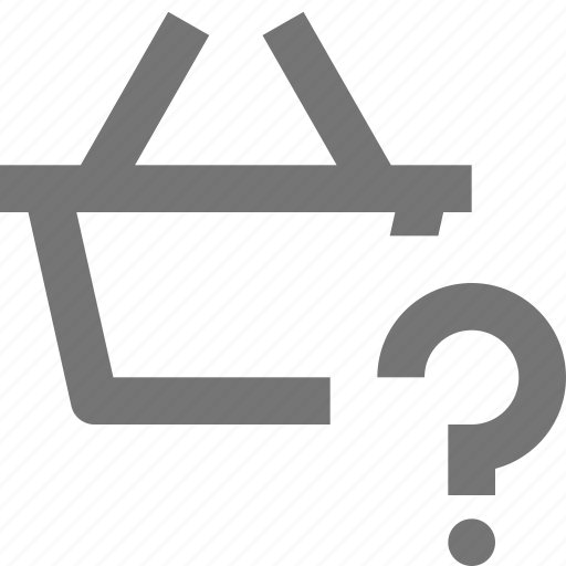 basket, help, question, shopping icon