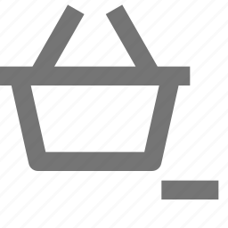 basket, minimize, minus, shopping icon
