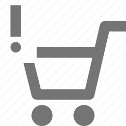 alert, cart, error, exclamation, shopping icon