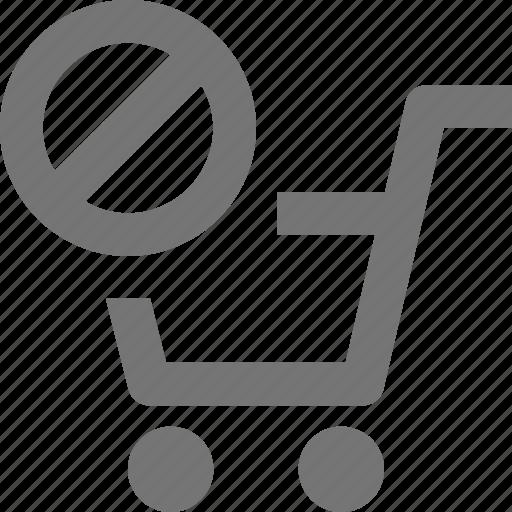 block, cart, shopping, stop icon