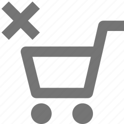 cart, close, delete, shopping icon