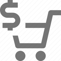 cart, dollar, money, shopping icon