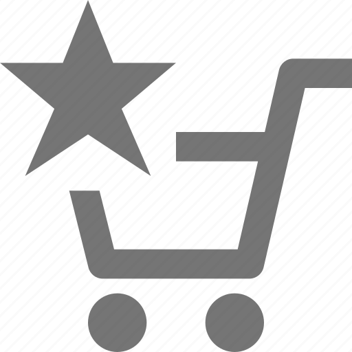 cart, favorite, shopping, star icon