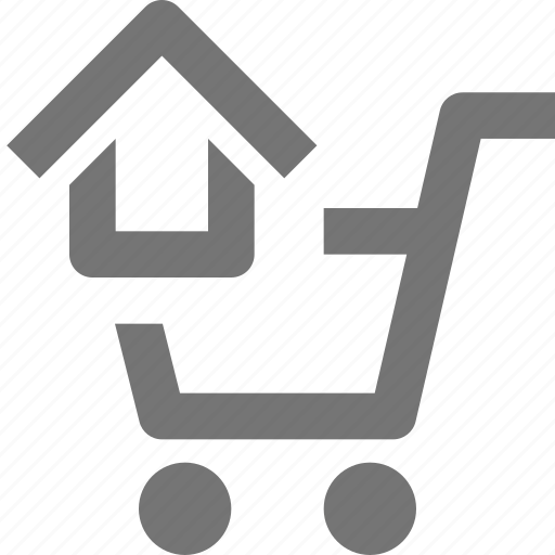 cart, home, house, shopping icon