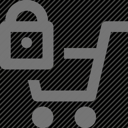 basket, buy, cart, ecommerce, lock, security, shopping, store icon