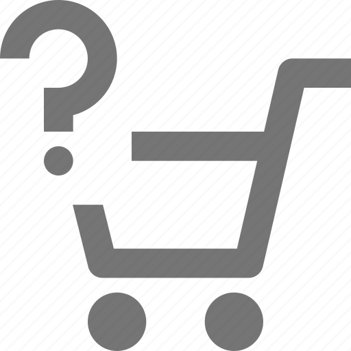 basket, buy, cart, ecommerce, help, question, shopping, store icon