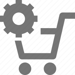 basket, buy, cart, configuration, ecommerce, gear, settings, shopping icon
