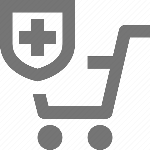 basket, buy, cart, ecommerce, protect, shield, shopping, store icon