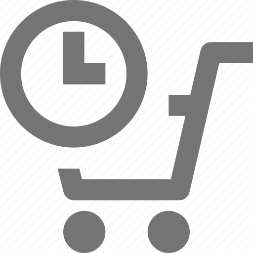 cart, clock, shopping, time icon
