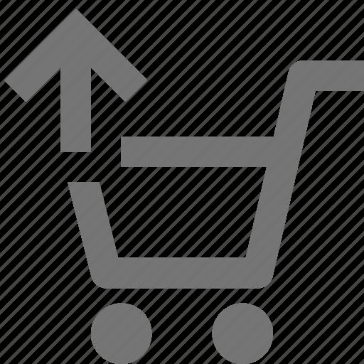 arrow, basket, buy, cart, ecommerce, shopping, store, upload icon