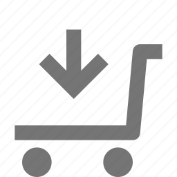 arrow, basket, buy, download, ecommerce, shopping, store, trolley icon