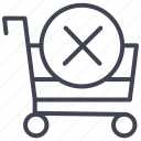 cancel, cart, ecommerce, shop, shopping icon